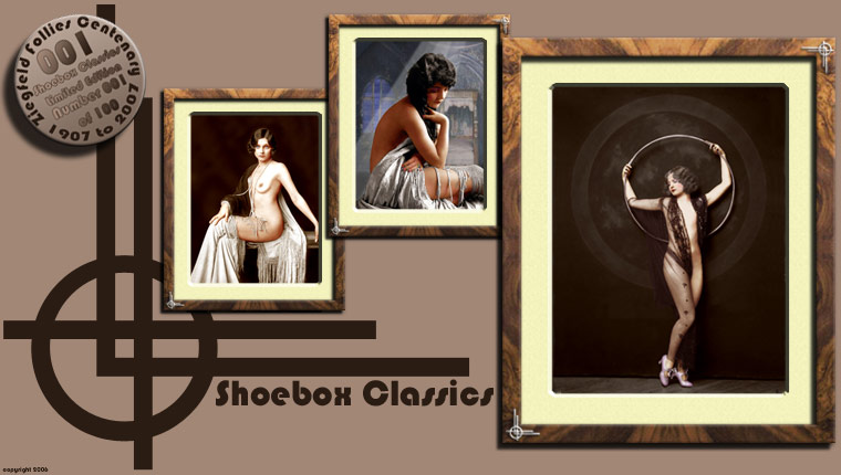Ziegfeld Girls from Shoebox Classics - A great place for outstanding colour photographs in a classic 1920's style. All Photos have been created from Black and White